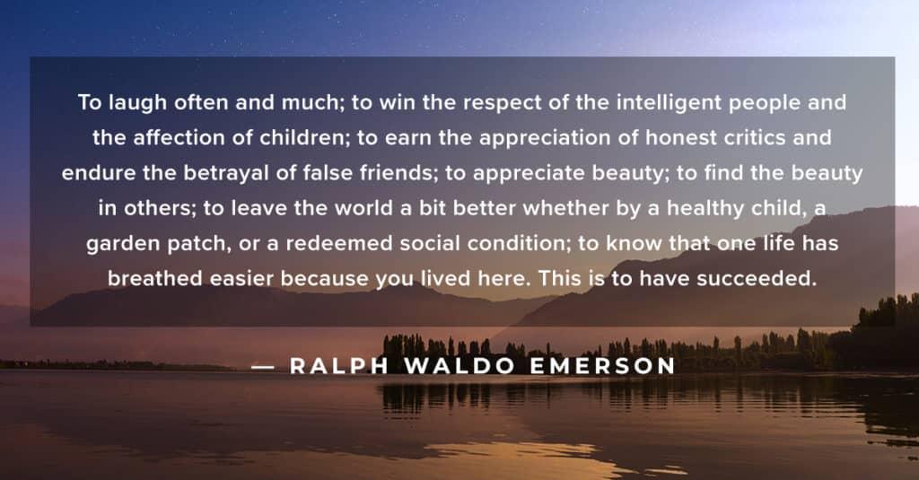 Emerson Success Quote
